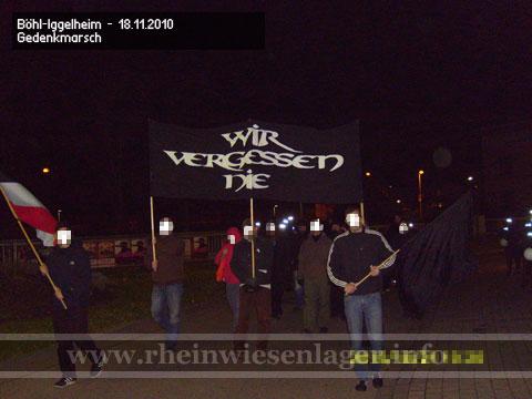 """""""Wir vergessen nie!"""" Gedenkmarsch in Böhl-Iggelheim"""