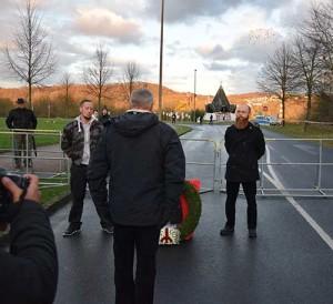 Trauermarsch Remagen 2015. Symbolische Kranzniederlegung